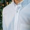 Chemise Oxford Blanc col