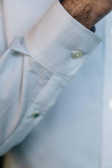 Chemise Oxford Blanc poignée