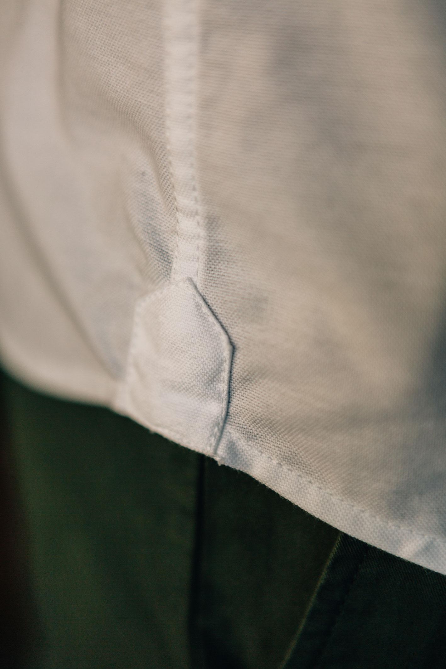 Chemise Oxford Blanc hirondelle de renfort