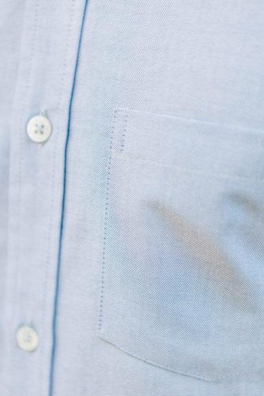 Chemise Oxford Bleu poche