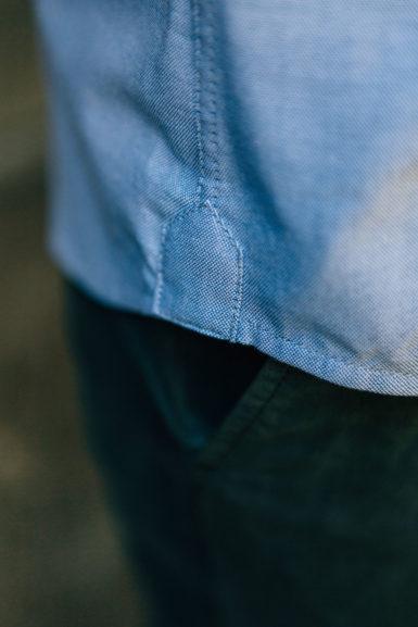 Chemise Oxford Bleu hirondelle de renfort