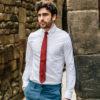 Chemise Oxford Blanc cravate