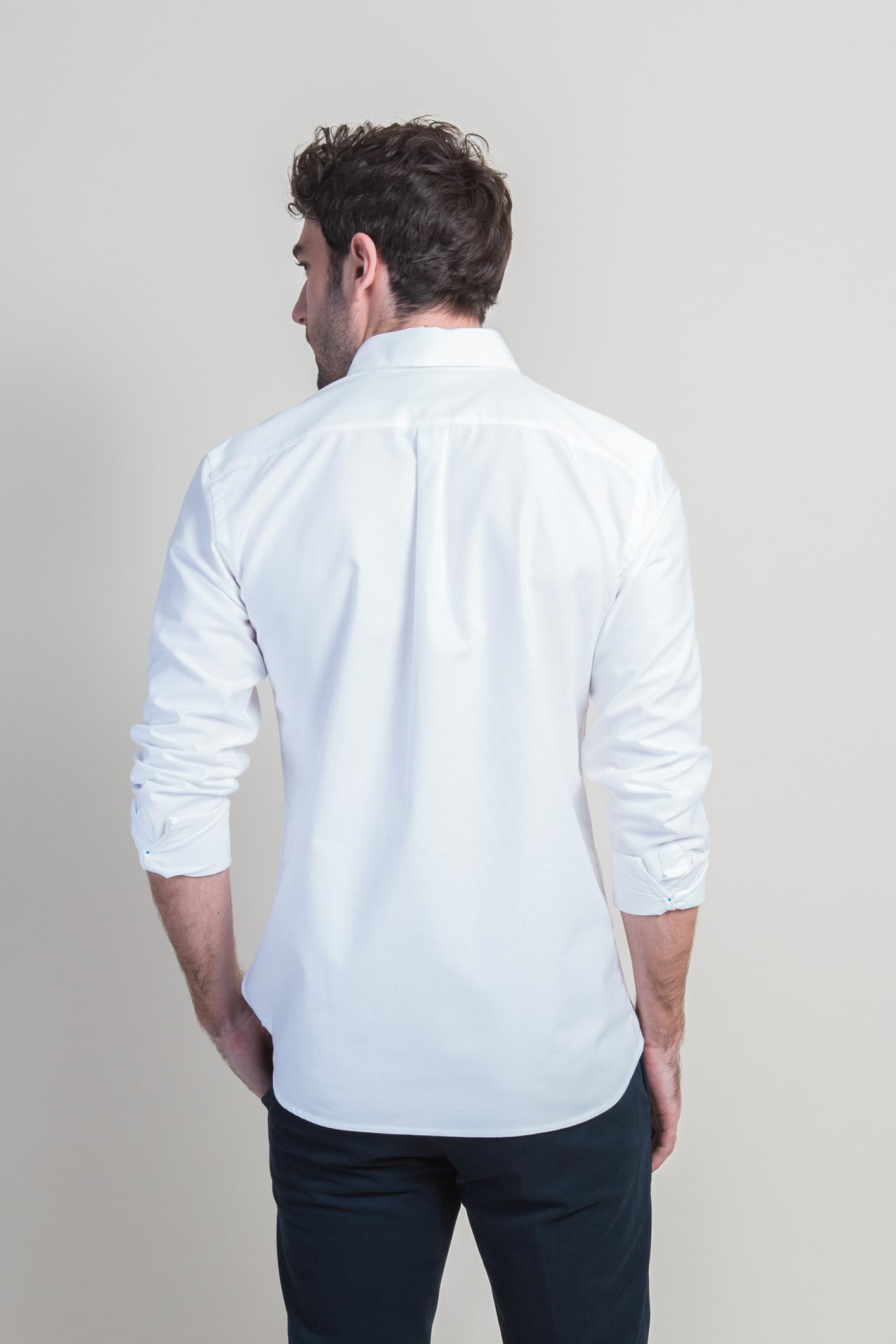 Chemise oxford blanc dos sortie
