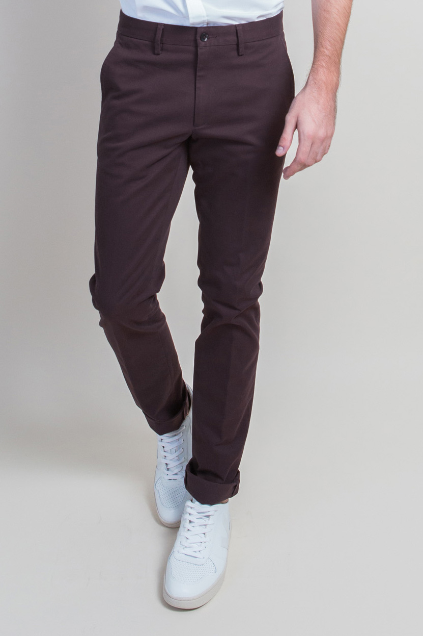 Zoom Chino Bordeaux Face 2