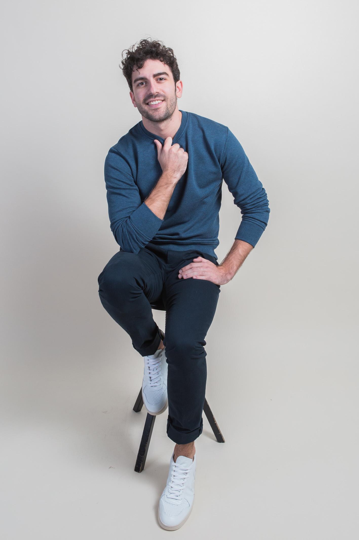 Tabouret sweatshirt chino bleus 2