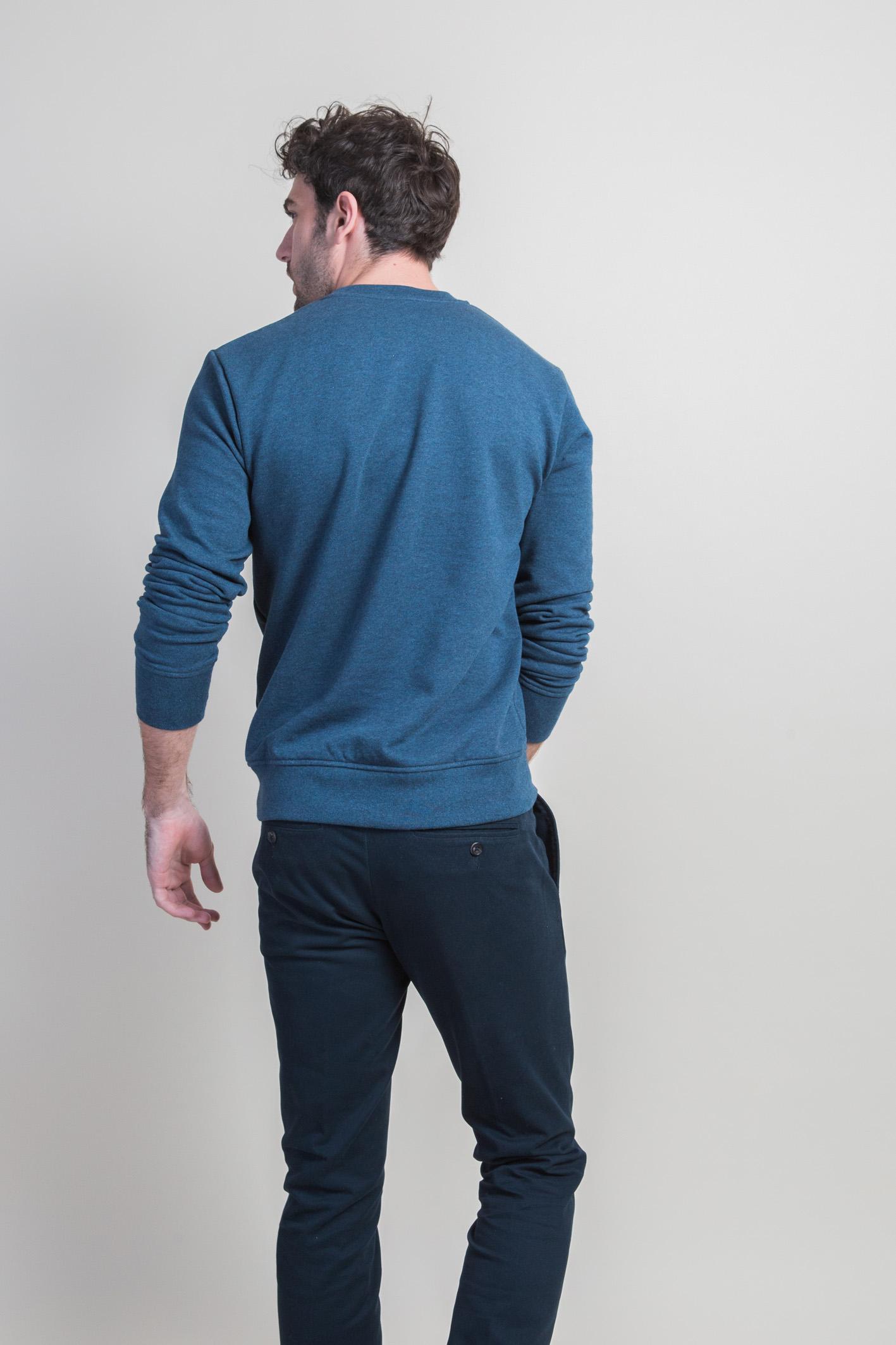 Sweatshirt bleu dos
