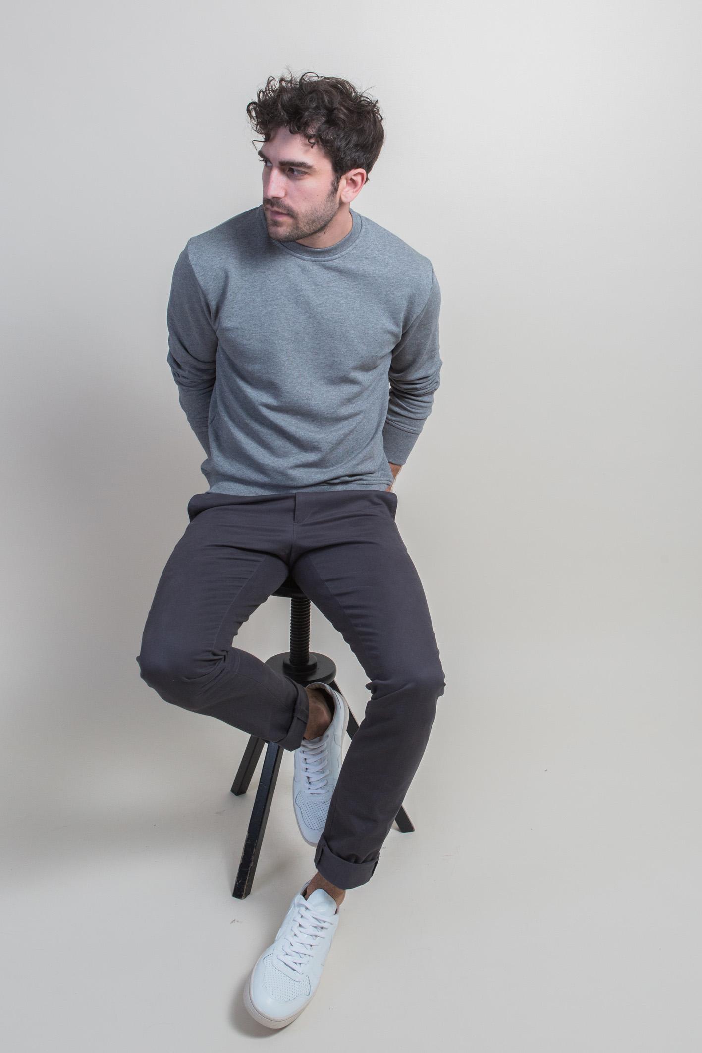 Tabouret sweatshirt gris