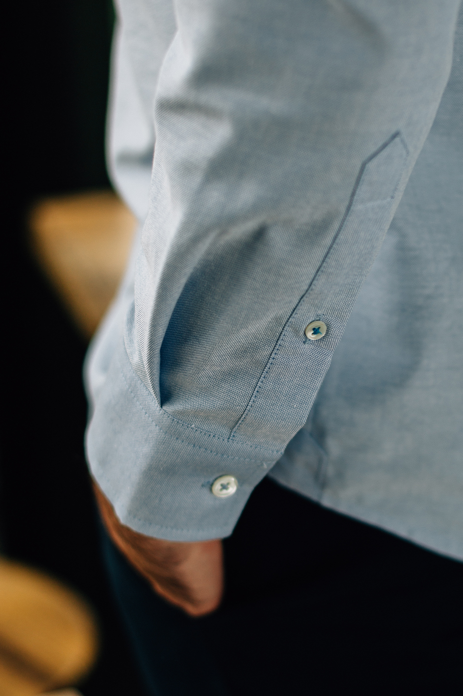close-up chemise oxford bleu full