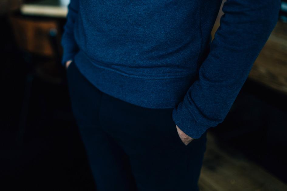 Zoom bas sweatshirt bleu