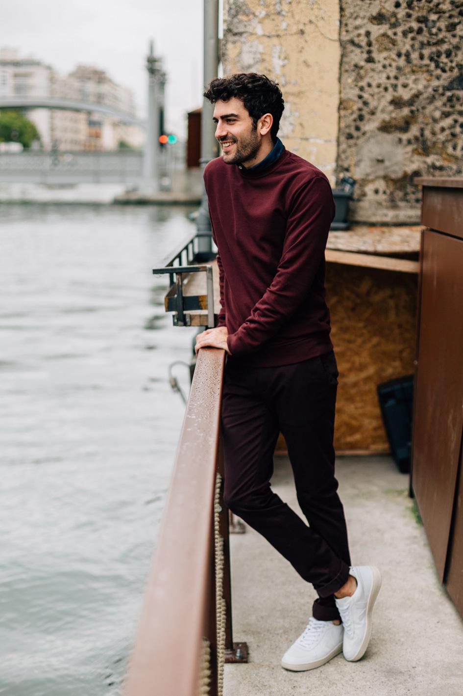 Tenue Bordeaux Canal portrait