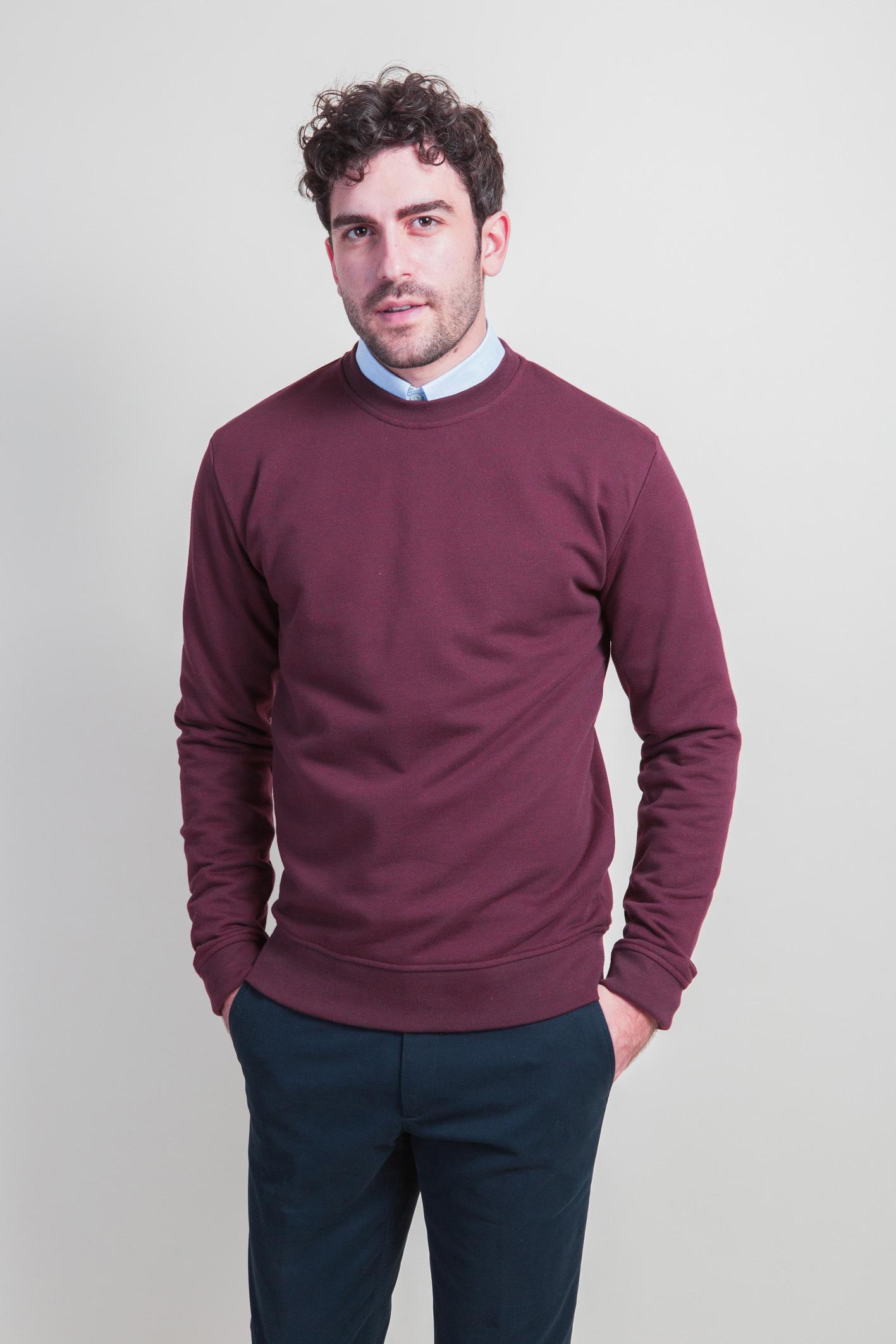 Sweatshirt bordeaux face 2