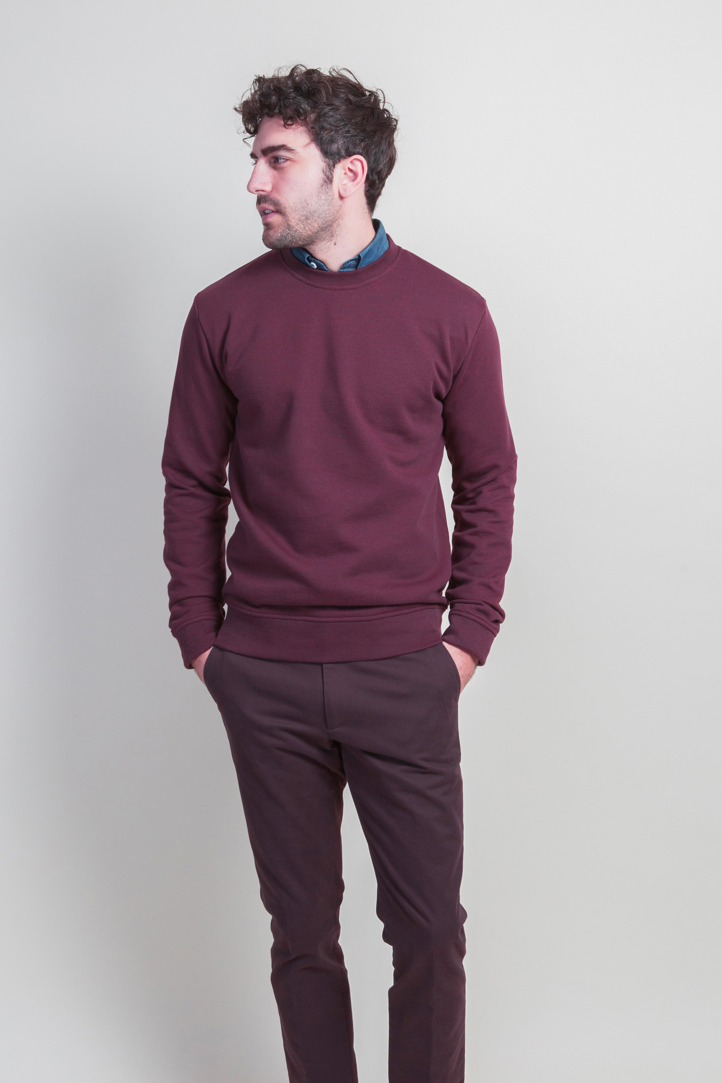 Sweatshirt bordeaux face