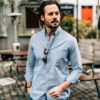Chino bleu canard chemise enzo