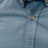 Enzo Oxford bleu pastel boutons bois col