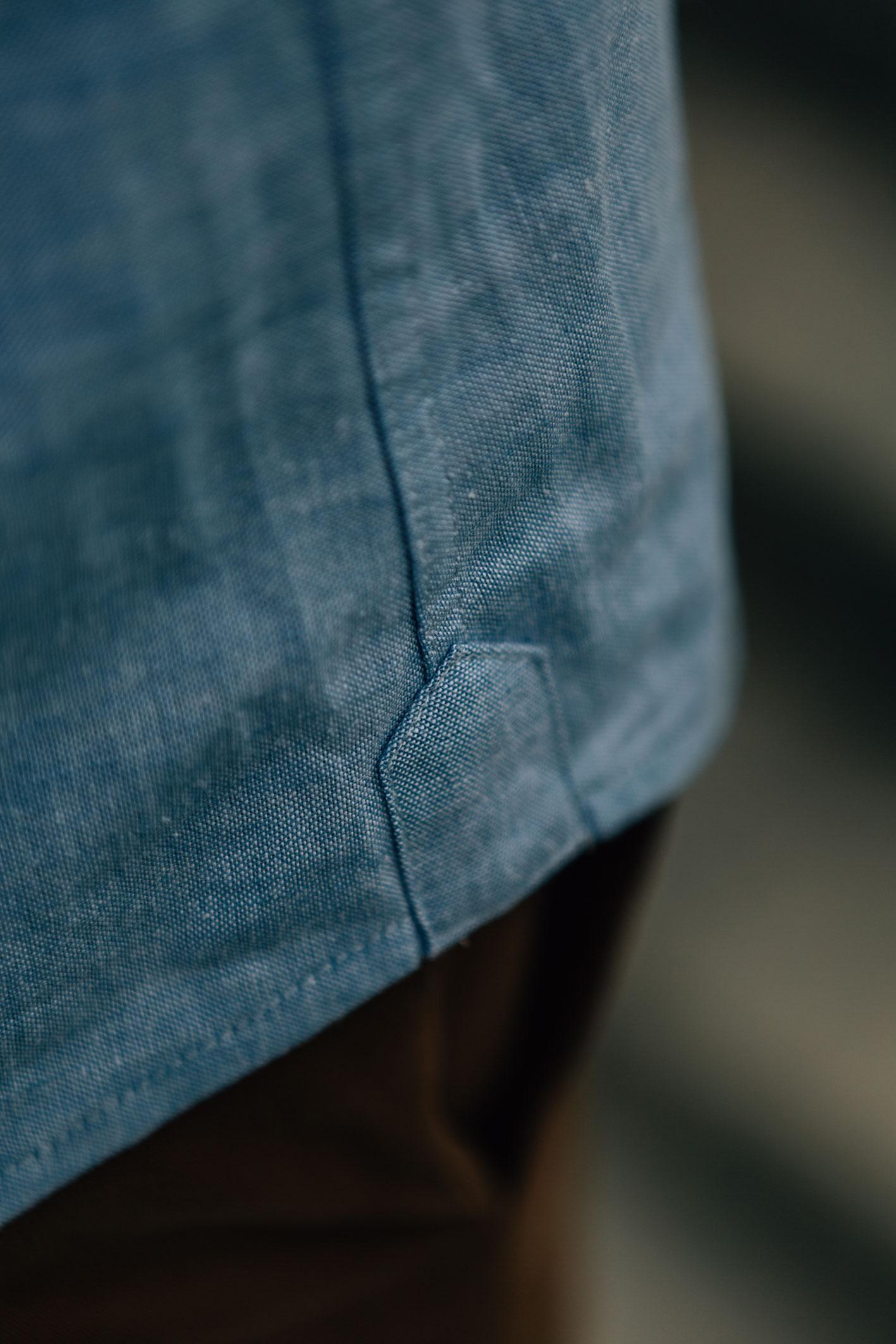 Enzo Oxford bleu pastel boutons bois hirondelle de renfort