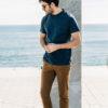 Chino Tabac t-shirt bleu de berlin