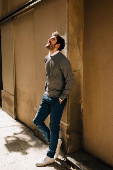 sweatshirt gris chino bleu canard 2