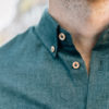 Chemise Gaspard Flanelle Peppermint Close-up col