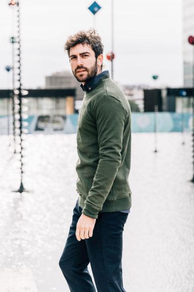 sweatshirt vert steppe pantalon flanelle Giacomo