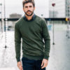 sweatshirt vert steppe pantalon flanelle Giacomo face