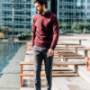 Sweatshirt Bourgogne Chino pave de paname