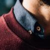 Sweatshirt Bourgogne close-up col
