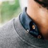 Sweatshirt canon de fusil close-up col