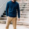 Sweatshirt Bleu Indigo Chino Cafe Latte