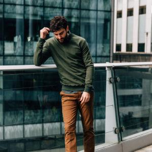 sweatshirt vert steppe chino speculos