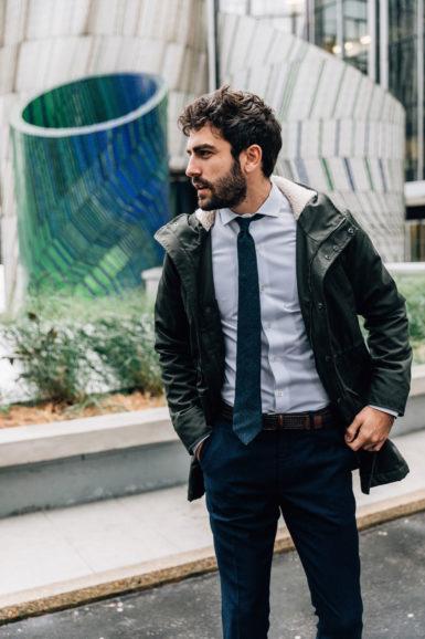 Parka Blake Vert Amazone Chemise Oscar blanche pantalon flanelle Giacomo 2