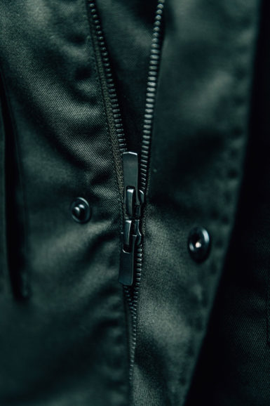 Parka Blake Vert Amazone close-up double zip