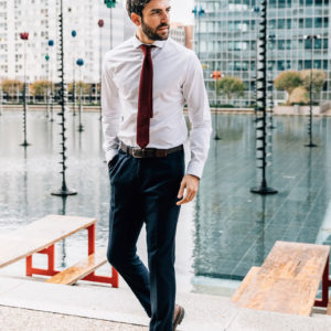 Ceinture Tressée teintes de Marron pantalon flanelle chemise oscar