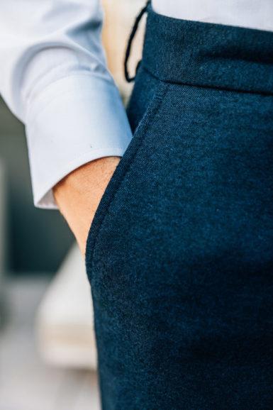 Pantalon Flanelle Giacomo close-up poche