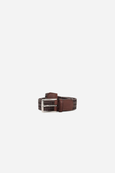 ceinture tressée marron_packshot
